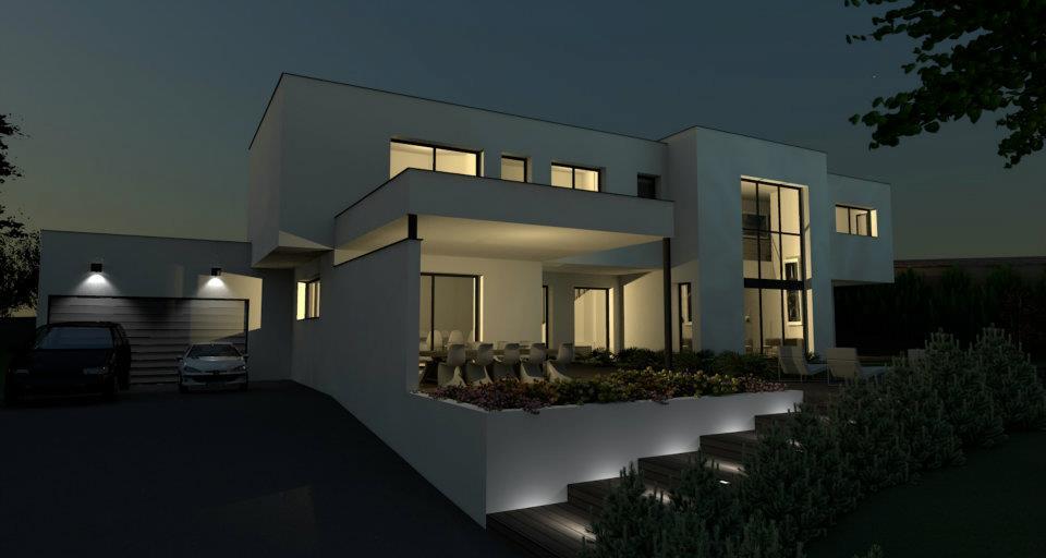 Plan maison contemporaine - plans de maisons contemporaines ...